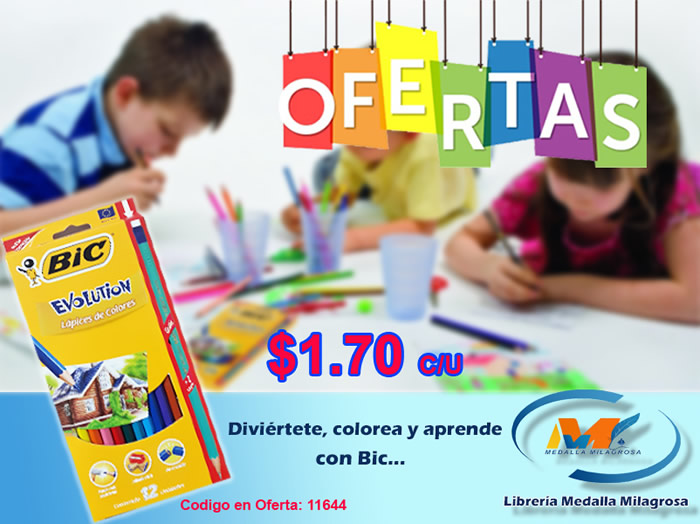 Colores Bic Evolution OFERTA