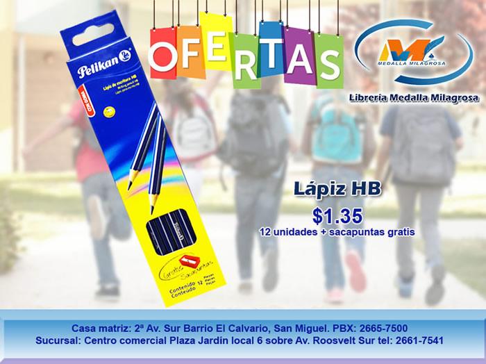 oferta Lapiz Azul